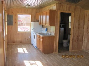 Inside a finished portable Cabin