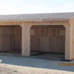 10 FT Shed Row Horse Barn