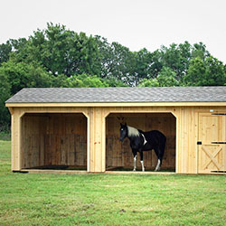12′ Shed Row Horse Barn