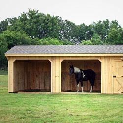 12′ Shed Row Horse Barn