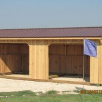 12x24 Ft Run in Custom Horse Shed