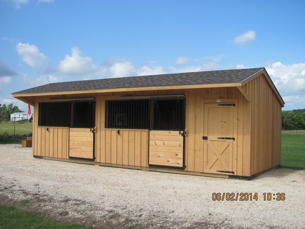 Portable run in shed 12 39 wide horse shed deer creek for Horse barn prices