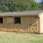 12x30 Horse Shed with Dutch Doors