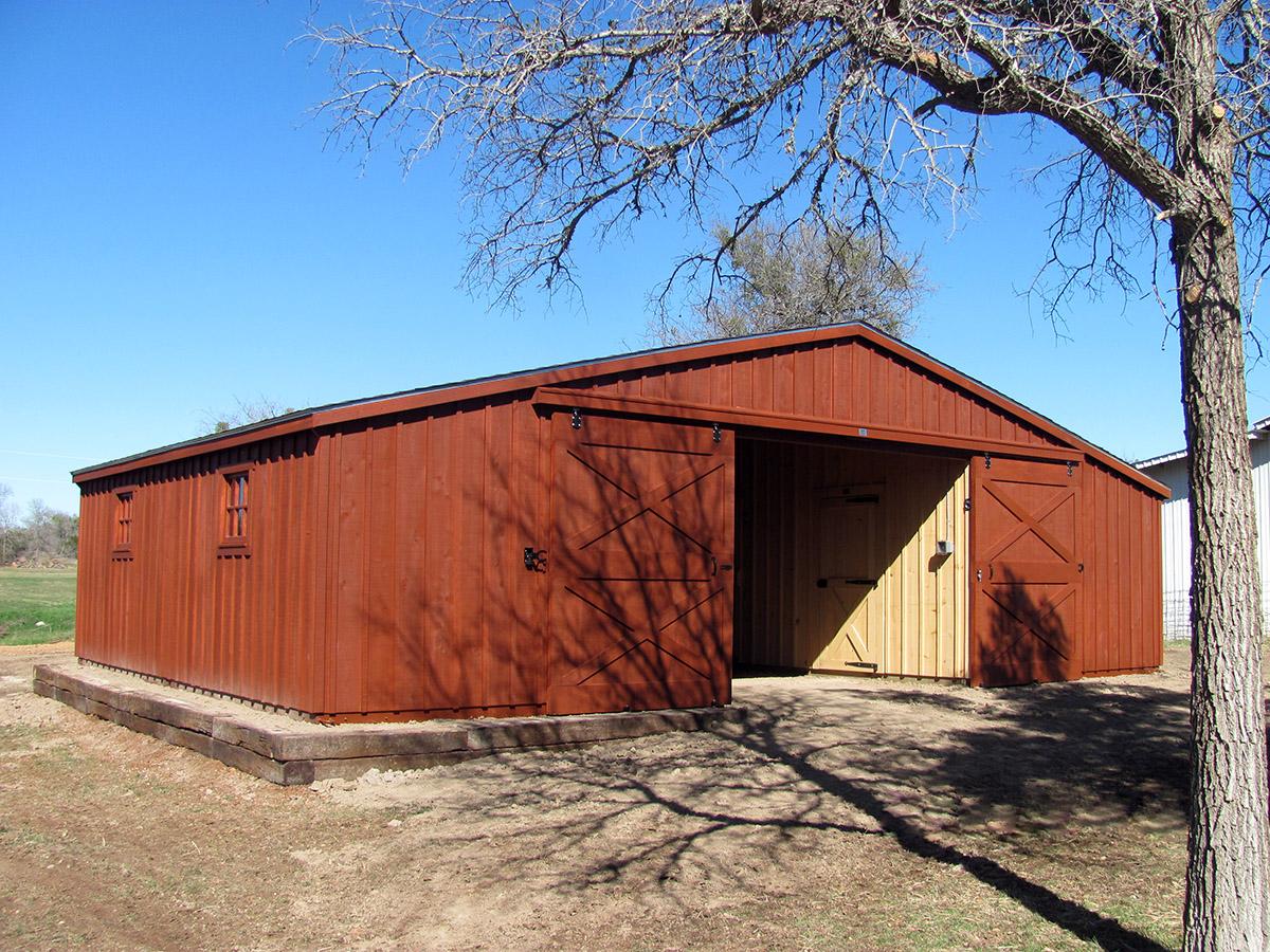 Portable Horse Barns : Portable aisle barns livestock for sale