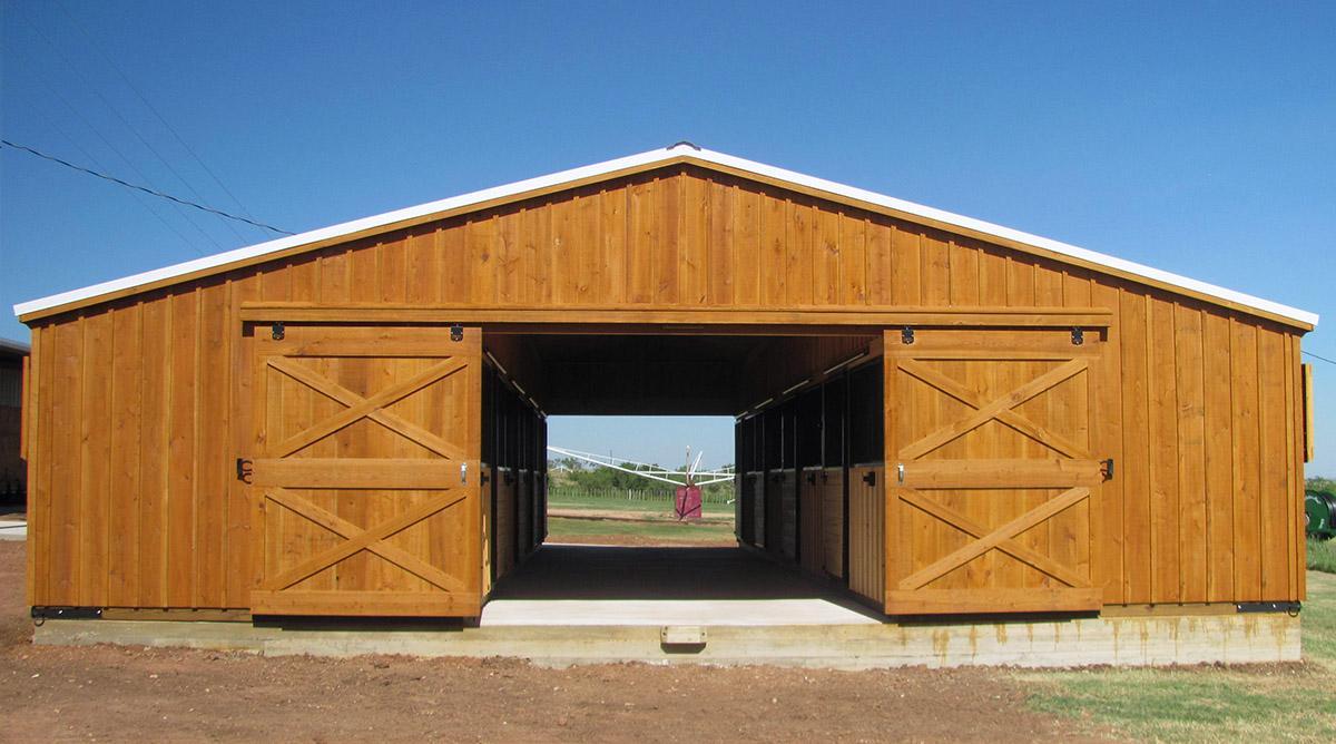 Portable aisle barns livestock aisle barns for sale for Horse barn prices