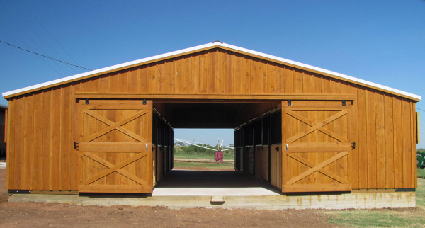 Portable Horse Aisle Barns