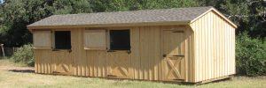 12x30 horse barn with dutch doors