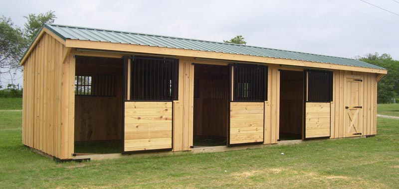 12' Wide Portable Shed Row Horse Barns for Sale | Deer Creek