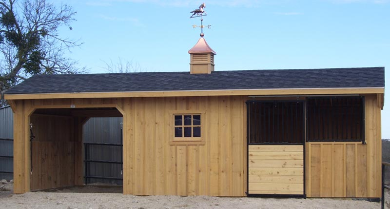 12' Wide Portable Shed Row Horse Barns for Sale   Deer Creek