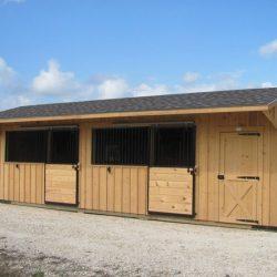 Portable 10′ Shedrow Barns